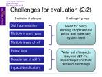 challenges for evaluation 2 2