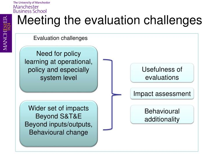 Meeting the evaluation challenges
