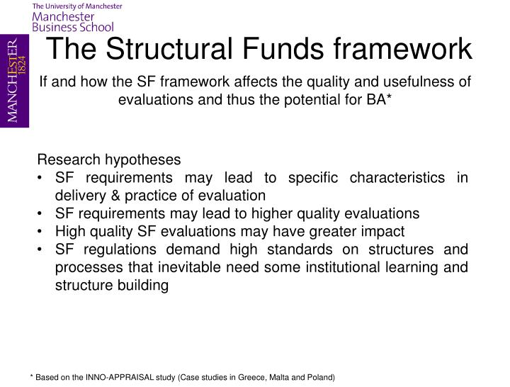The Structural Funds framework