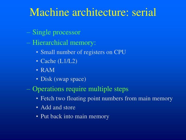 Machine architecture: serial