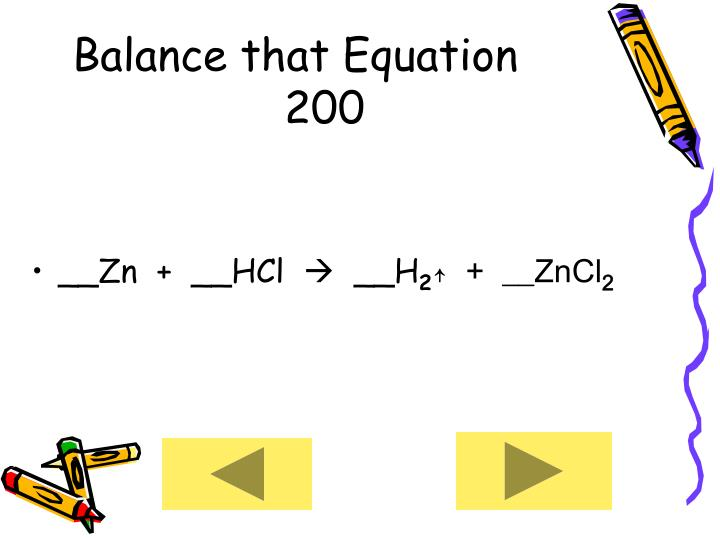 Balance that Equation      200
