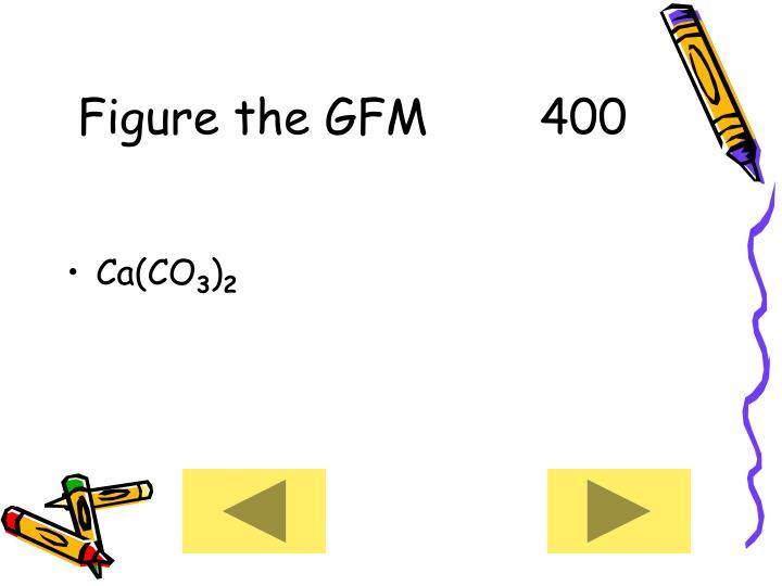 Figure the GFM      400