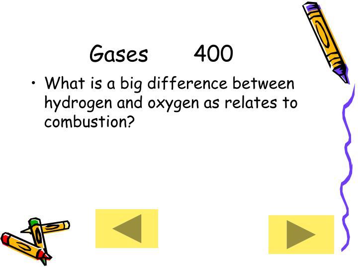 Gases     400