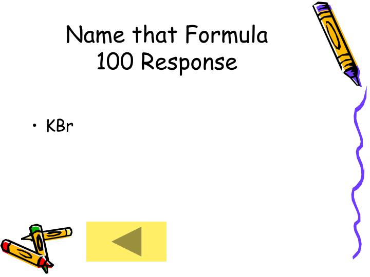 Name that Formula