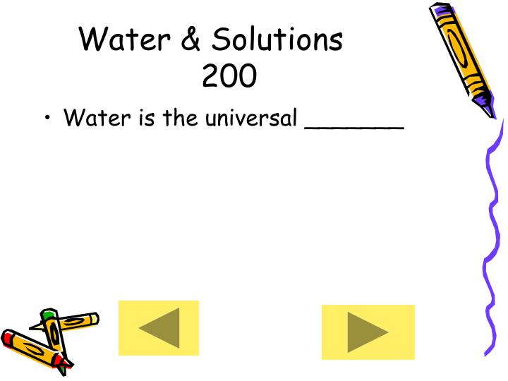 Water & Solutions     200
