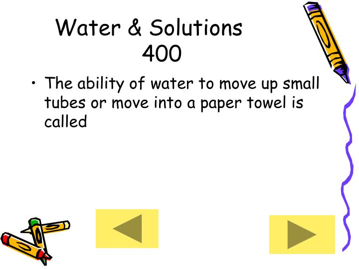 Water & Solutions     400