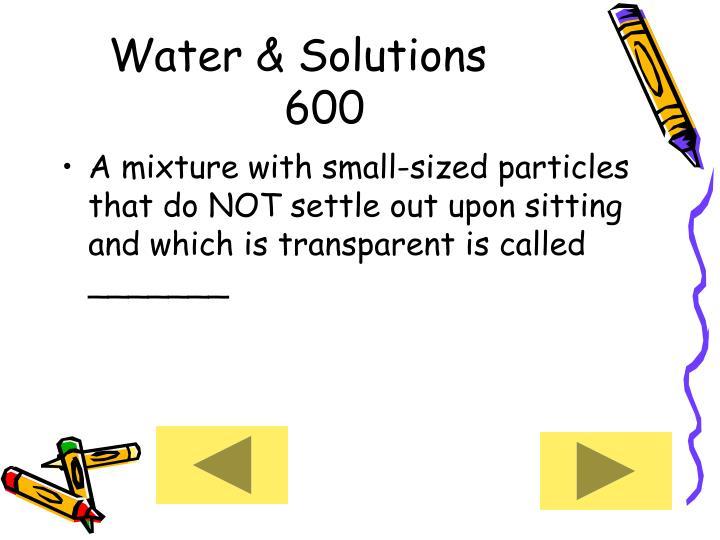 Water & Solutions     600
