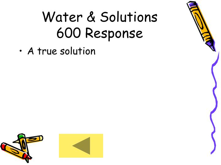 Water & Solutions