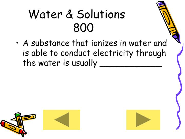 Water & Solutions     800