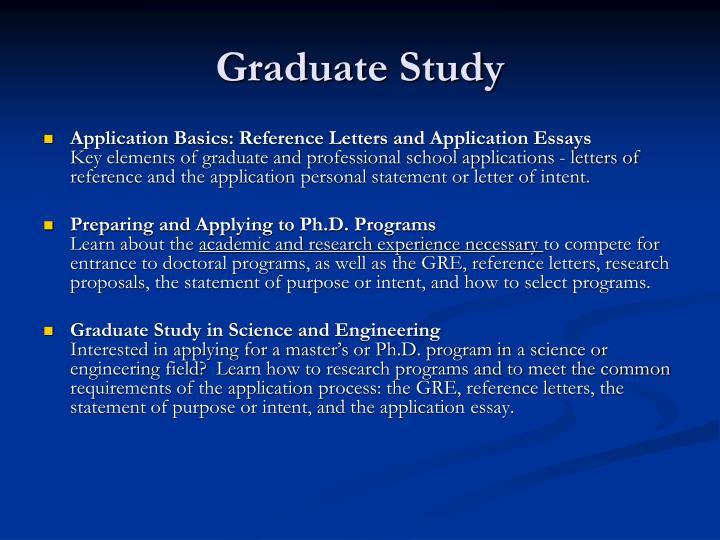 Graduate Study