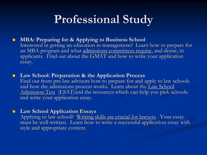 Professional Study