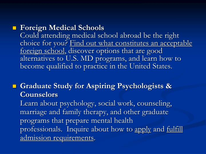 Foreign Medical Schools