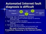 automated internet fault diagnosis is difficult