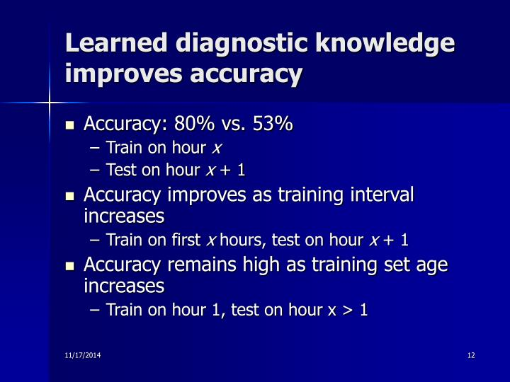 Learned diagnostic knowledge improves accuracy