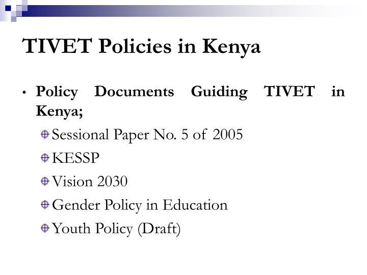 TIVET Policies in Kenya