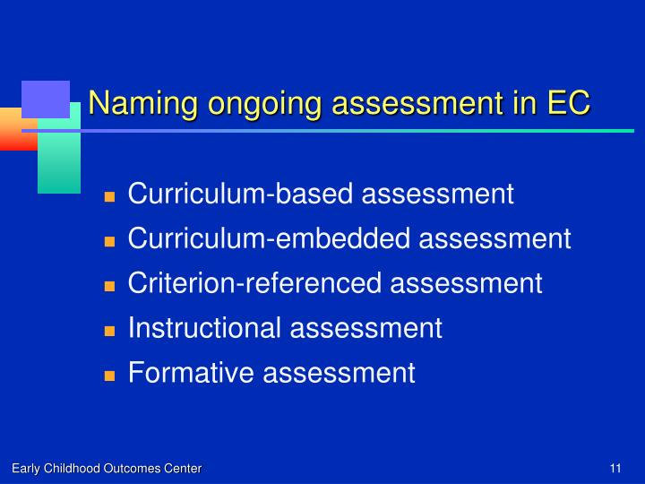 Naming ongoing assessment in EC