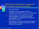 what kind of assessment is going on in ec programs across the country