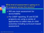 what kind of assessment is going on in ec programs across the country1