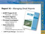 report 16 managing small airports