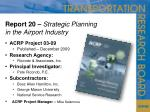 report 20 strategic planning in the airport industry