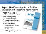 report 24 evaluating airport parking strategies and supporting technologies