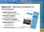 report 28 marketing guidebook for small airports