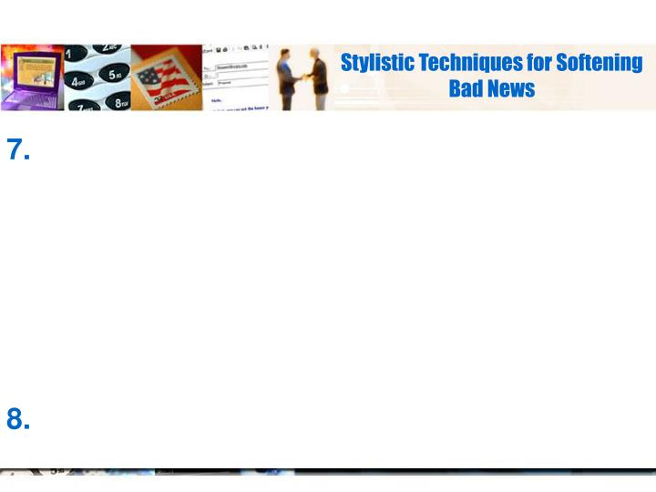 Stylistic Techniques for Softening Bad News