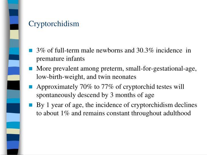 Cryptorchidism