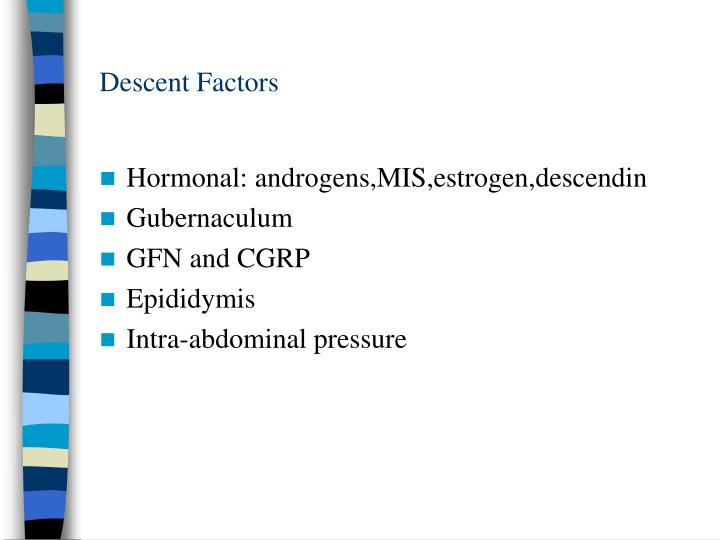 Descent Factors