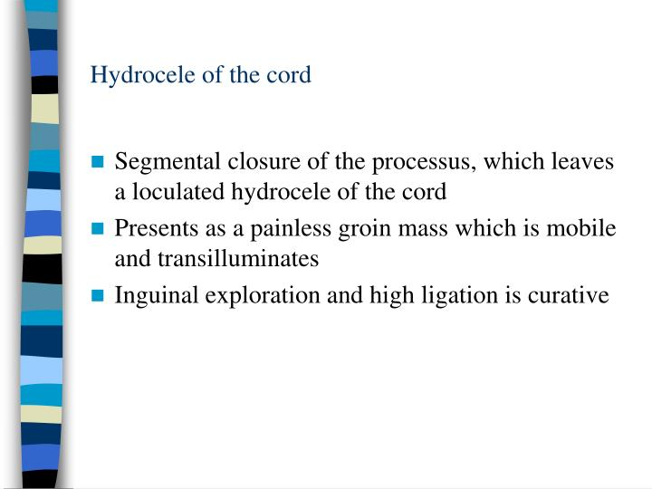 Hydrocele of the cord