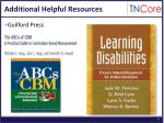 additional helpful resources