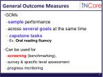 general outcome measures