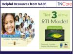 helpful resources from nasp