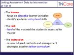 linking assessment data to intervention at tier iii