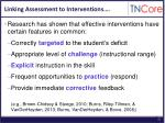 linking assessment to interventions