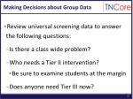 making decisions about group data