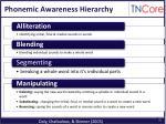 phonemic awareness hierarchy