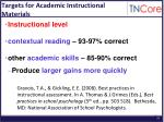 targets for academic instructional materials