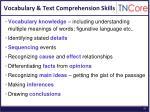 vocabulary text comprehension skills