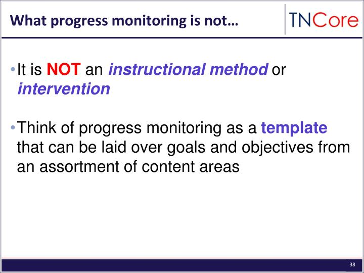 What progress monitoring is not…