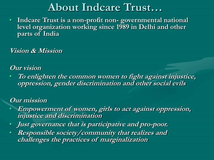 About Indcare Trust…