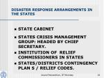 disaster response arrangements in the states