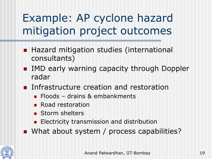 Example: AP cyclone hazard mitigation project outcomes