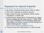 exposure to natural hazards