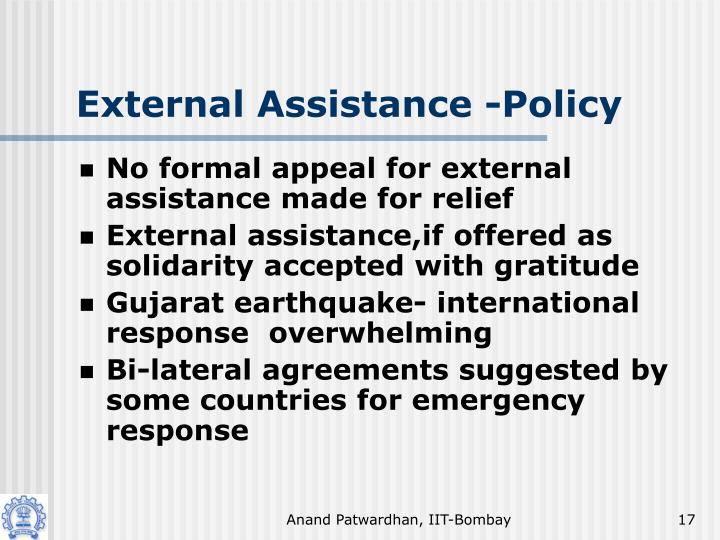 External Assistance -Policy