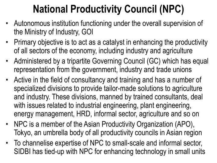 National Productivity Council (NPC)