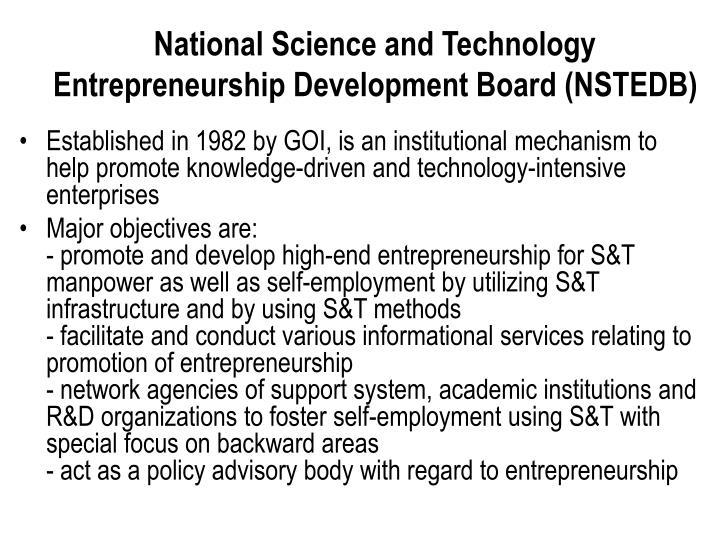 National Science and Technology Entrepreneurship Development Board (NSTEDB)