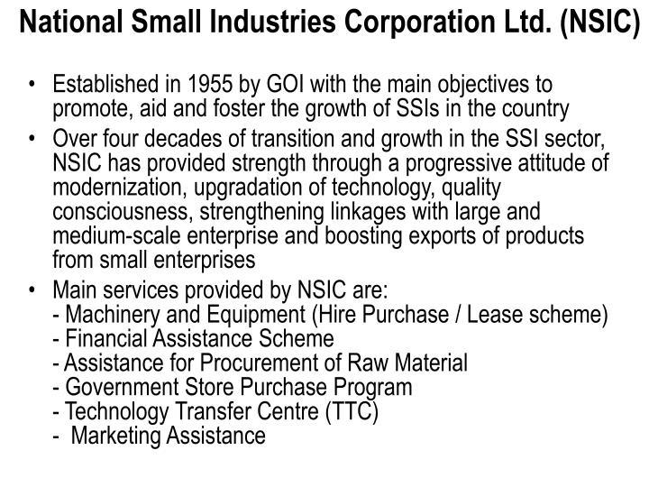 National Small Industries Corporation Ltd. (NSIC)