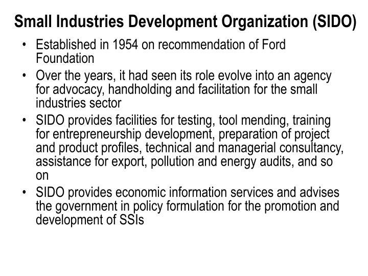 Small Industries Development Organization (SIDO)