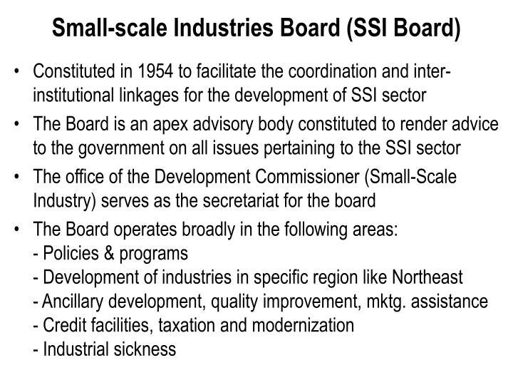 Small-scale Industries Board (SSI Board)